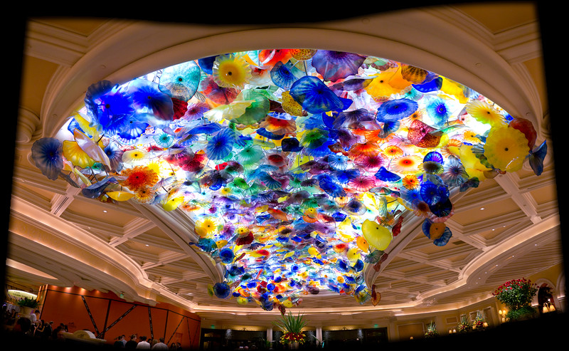 The overhead glass installation at the Bellagio lobby.  Every piece is individually hand blown and attached