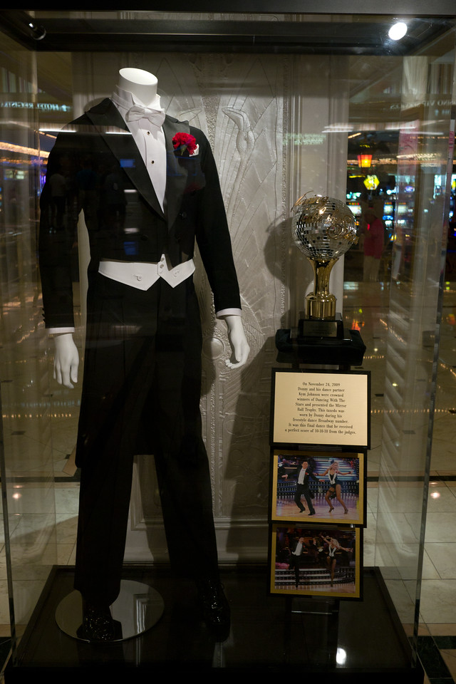 The tuxedo worn by Donnie Osmond when he won Dancing with the Stars
