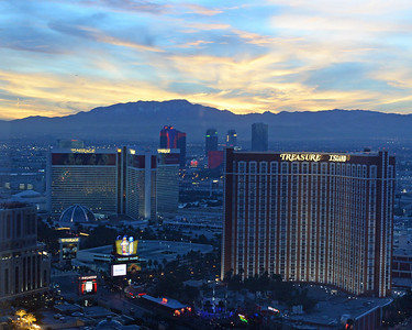 Wynn sunset view