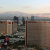 Morning light on Vegas mountains