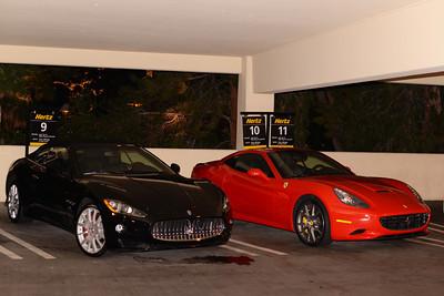 Hertz Maserati GT and Ferrari California