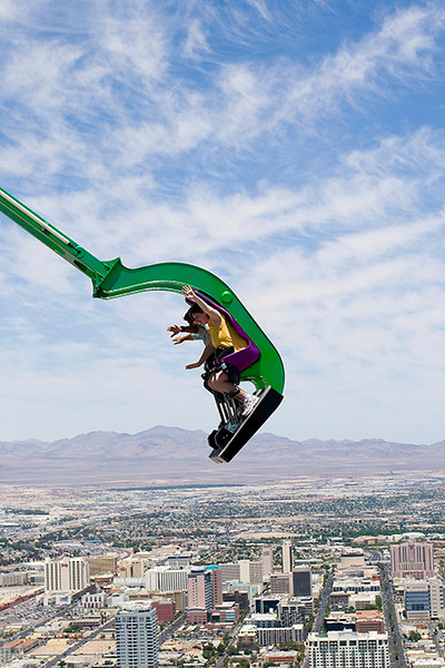 Heather on top of Stratosphere hotel