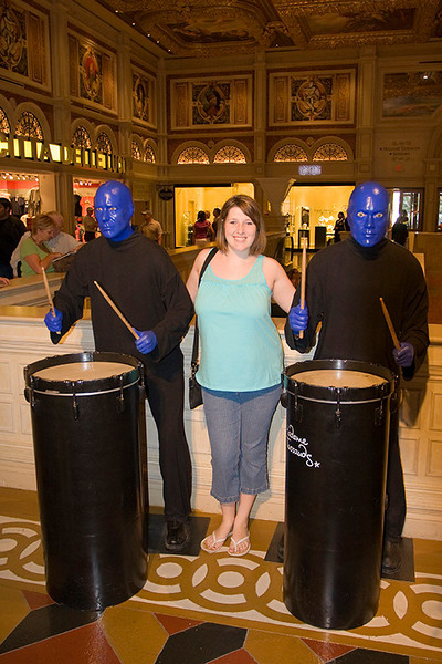 Heather with Blue Man Group