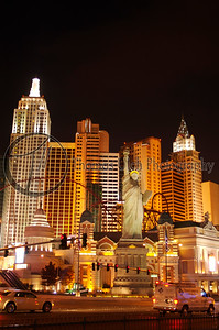 New York New York, with a little bit of strip in the foreground. Las Vegas, Nevada.