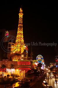 The strip as shot from an overpass. Las Vegas, Nevada