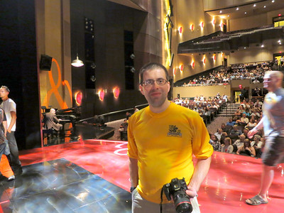 Ted inside the Penn and Teller theater at Rio.