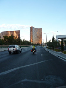 Peter, riding along in Vegas.