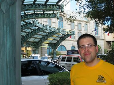 Ted outside the Paris Las Vegas casino.