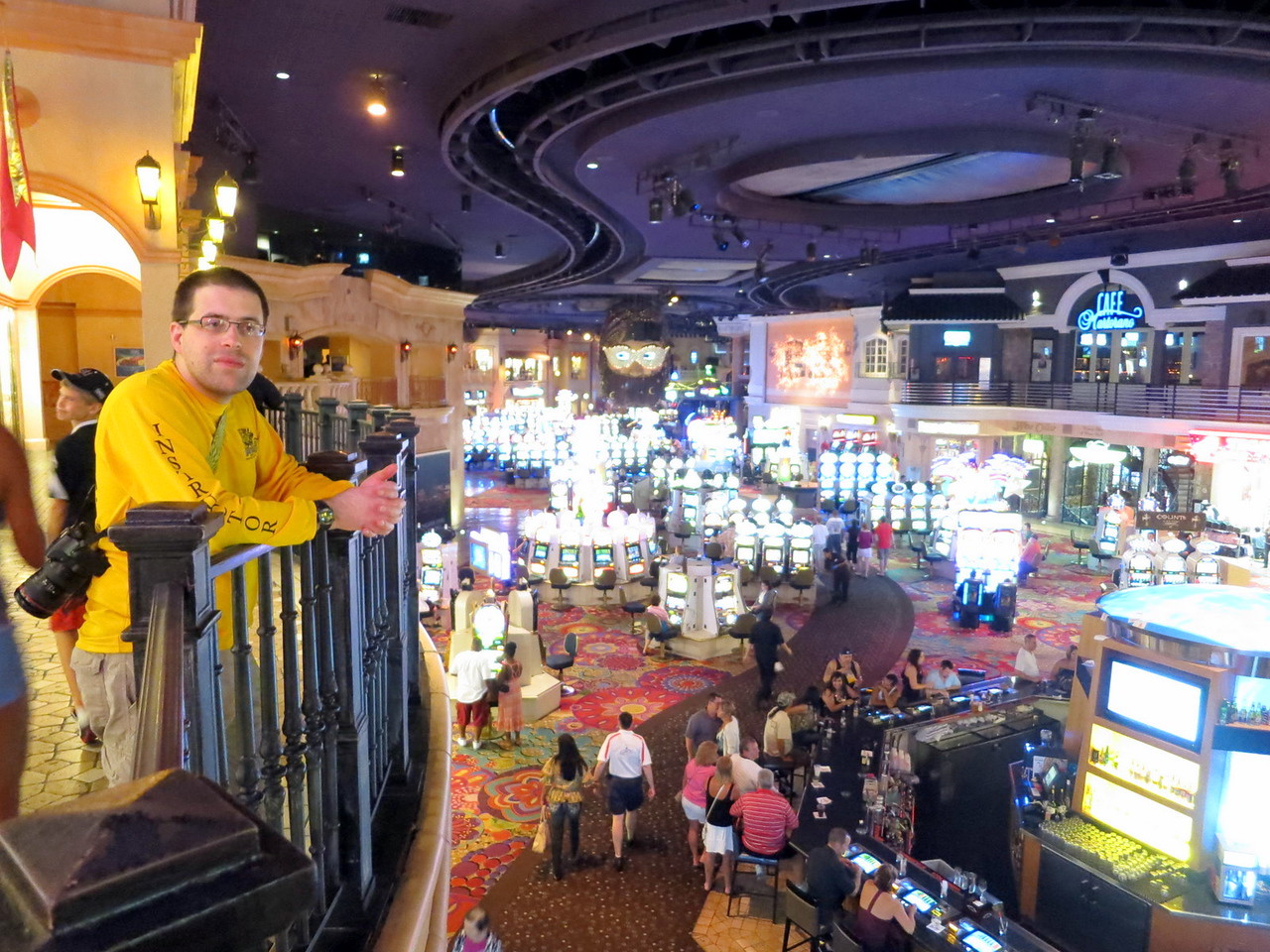 Ted inside the Rio casino.