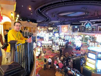 Ted inside the Rio casino.