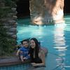 in the hotel pool