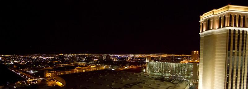 Las Vegas Skyline; View from Palazzo Hotel Room