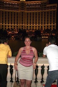 Shortly before the Bellagio water show