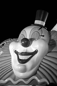 Scary clown at the Boardwalk hotel