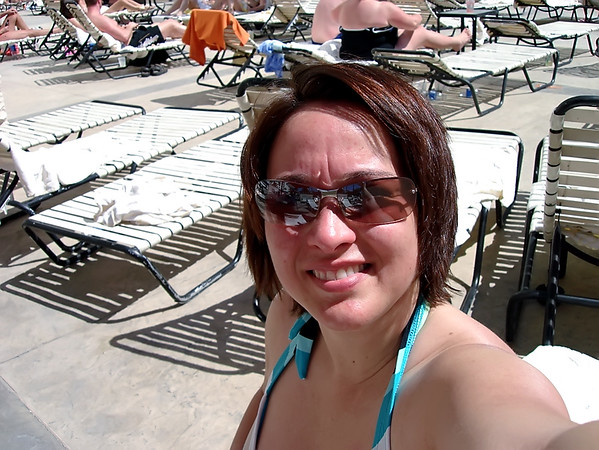 Self portrait at the pool