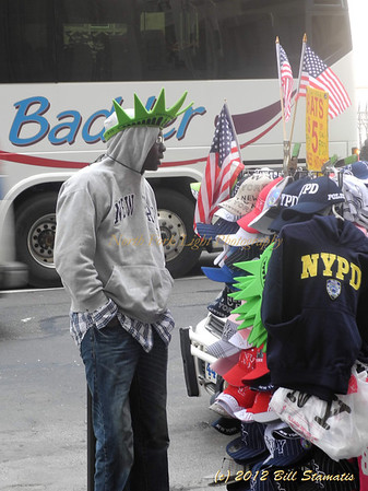 Lady Liberty headdress and other souvenirs of New York City