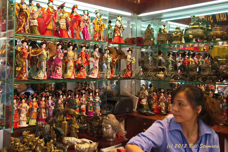 Doll vendor in Shanghai, China