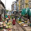 Maeklong Railway Market (Talad Rom Hub): railway market near Bangkok
