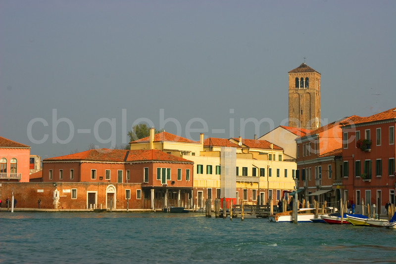 The world famous island of Murano with its glass factories, Venice