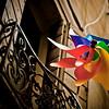 Propeller on balcony, Venice, Italy