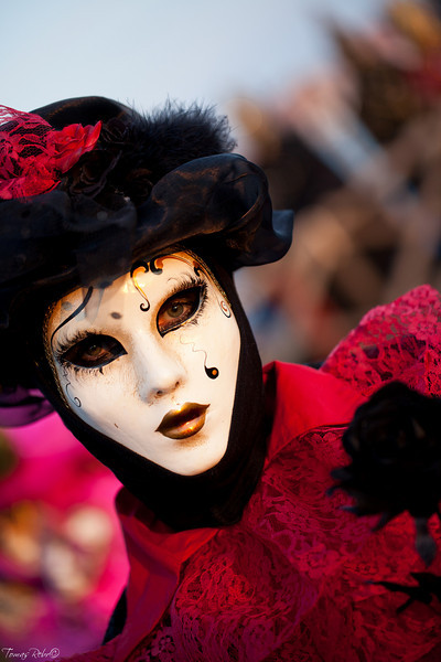 Mask on carnival, Piazzetta, Venice, Italy