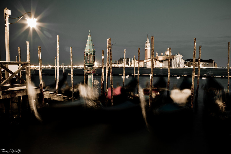 Gondolas near Piazzetta, Venice, Italy
