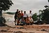 El grupo de amigos que visitamos Canaima, Eduardo y su novia, el piloto de avión que nos trajo, Pau, Juliana las dos mallorquinas y Luis