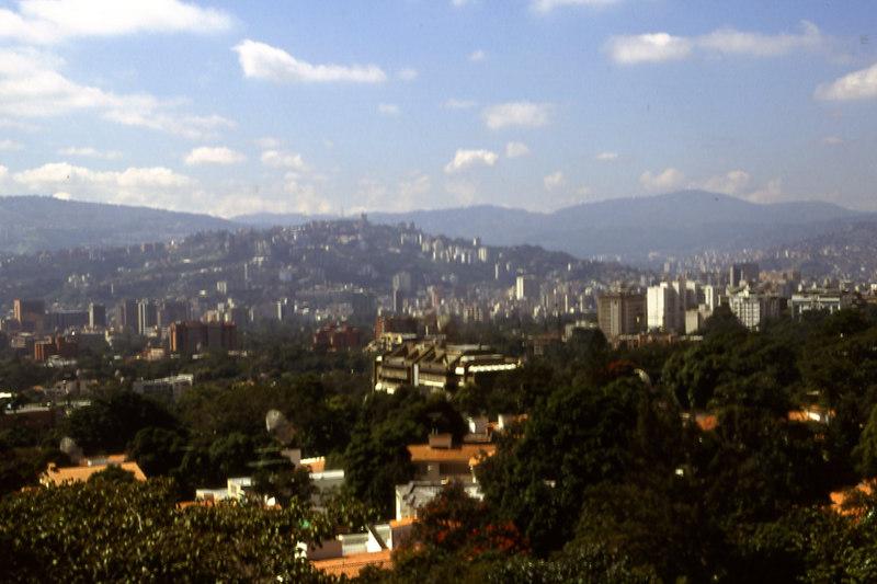 View of Caracas, the capital of Venezuela.