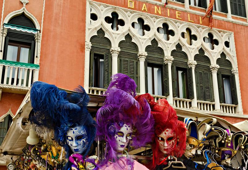 _D7K2101 Mask Stall, near St Mark's Square, Venice