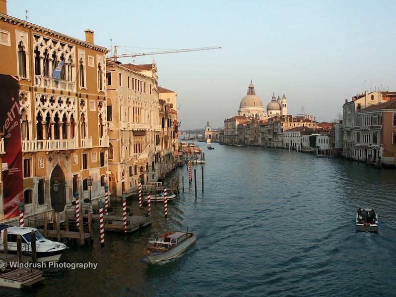 Grand Canal and Church of Santa Maria della Salute from Accademia Bridge, Venice