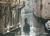 Early morning mist over side canal, Venice