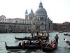 Gondolas on Grand Canal, Church of Santa Maria della Salute, Venice