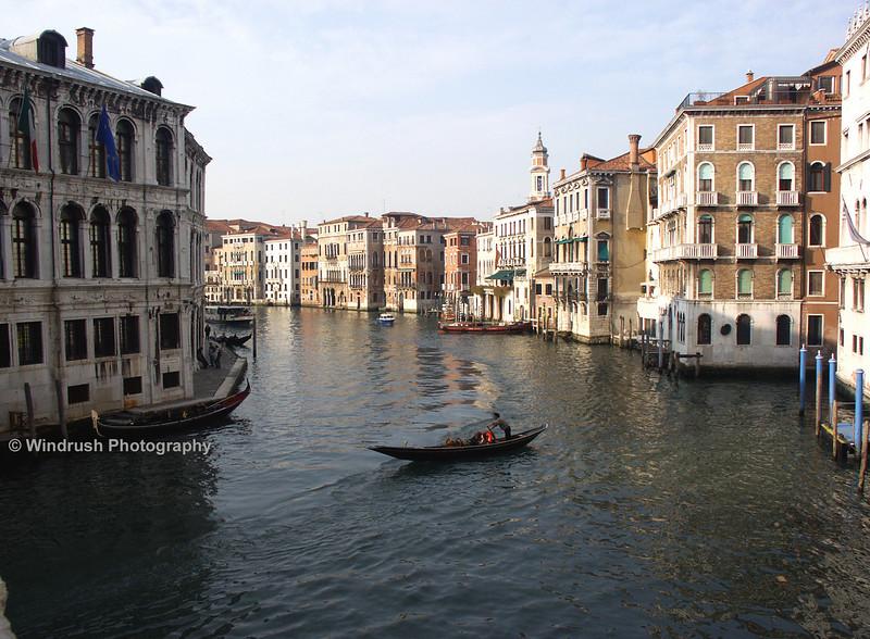 Gondola on Grand Canal, Venice