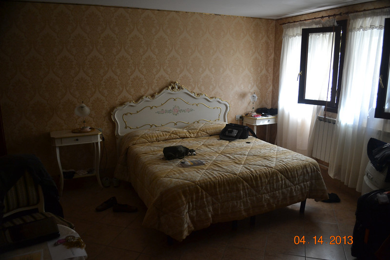 Our room on a small side canal in Venice