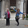 Bebe and Jeane on a walk in Venice