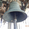 One of the bells in the tower