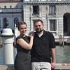 Sonia and Paul on the veranda of the Guggenheim Gallery