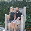 Sonia and Paul in the garden of the Guggenheim