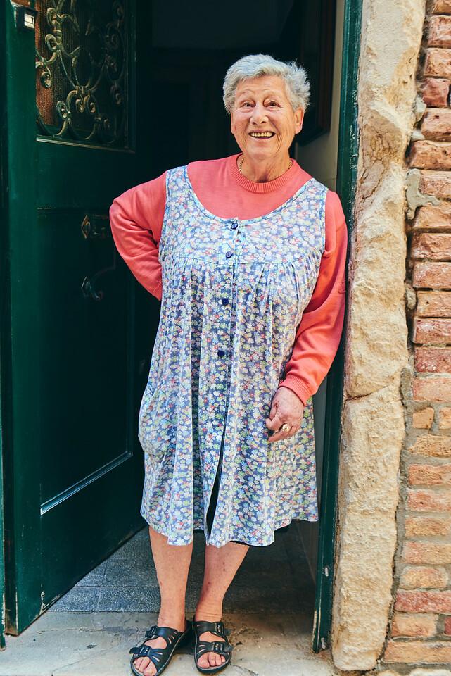 Friendly venetian woman in Dorsoduro