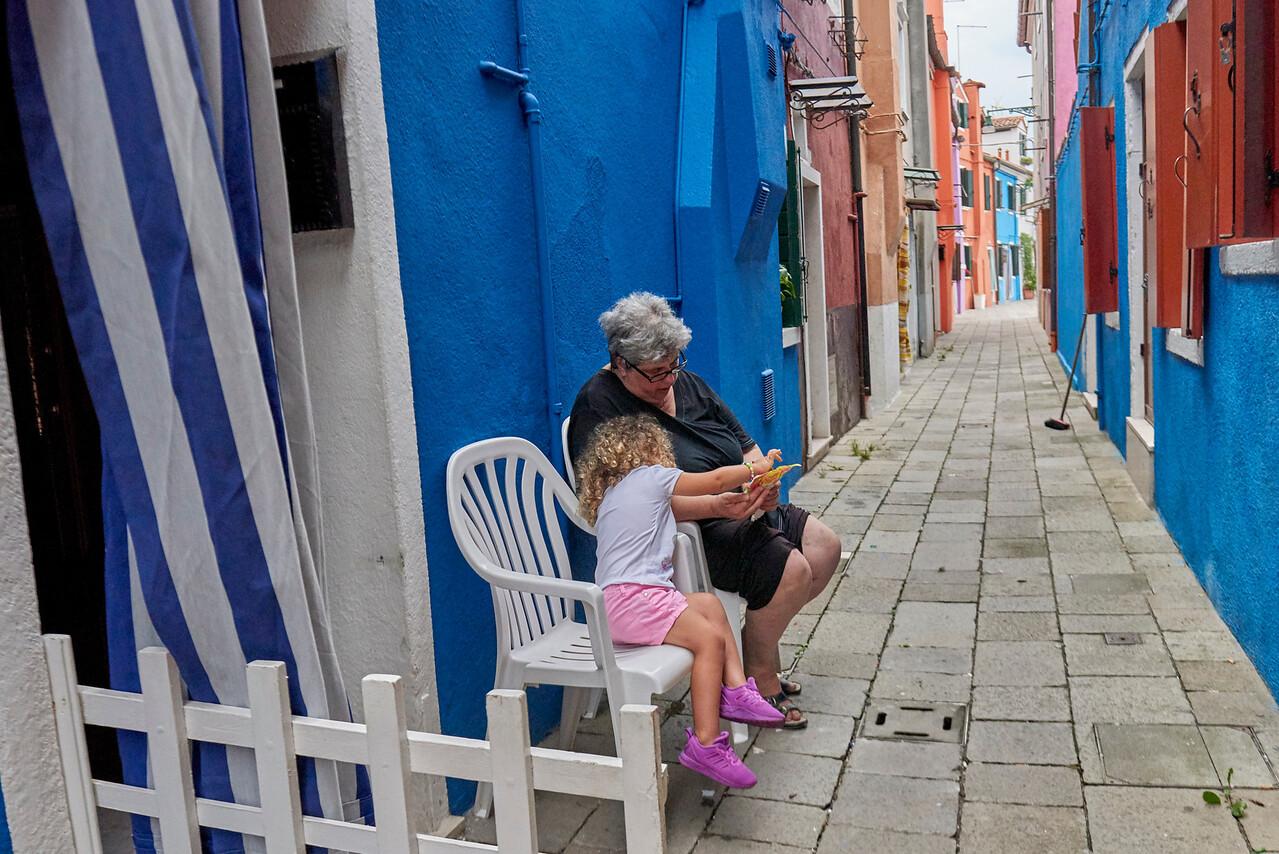 Street life in Burano