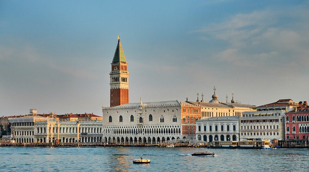 Morning sunrise over Venice