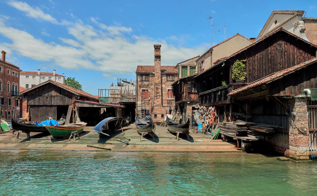 Gondola boat yard...Trovaso