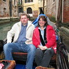 Happy couple on a gondola ride.