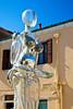 Public art, glass woman, Murano, Venetian Lagoon, Italy