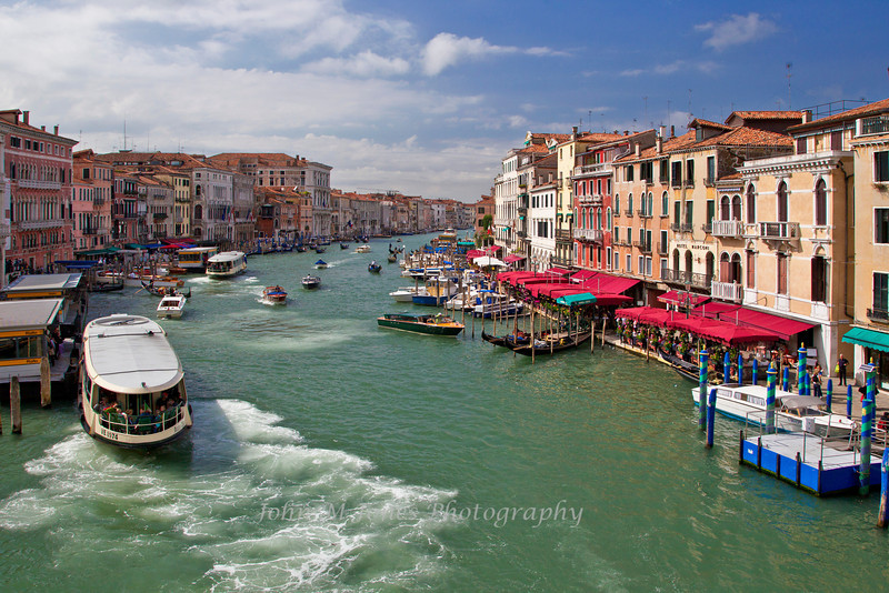Grand Canal viewed from Rialto Bridge, Venice, Italy