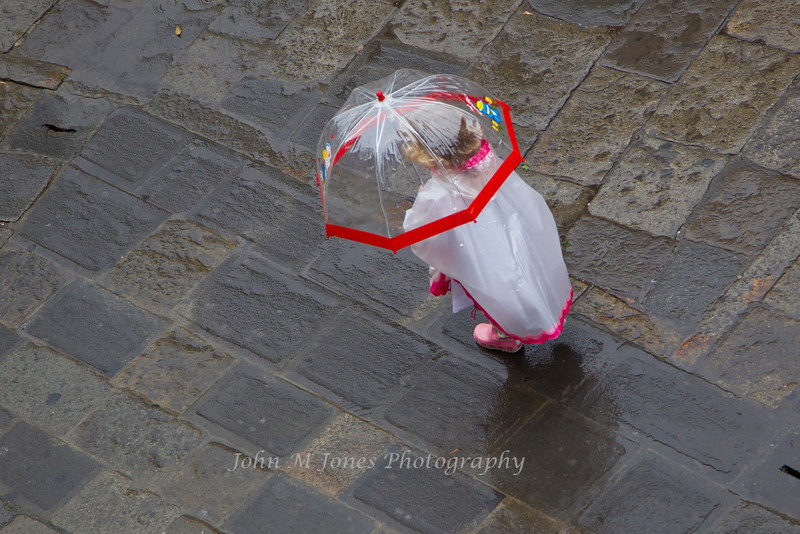 Child with pink boots, Campo San Zaccaria, Venice, Italy