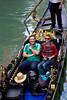 Gondola riders, Venice, Italy