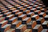 Marble floor at the altar of the Basilica of San Giorgio Maggiore creates an optical illusion, Venice, Italy