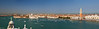Panorama from the San Giorgio Maggiore bell tower, Venice, Italy