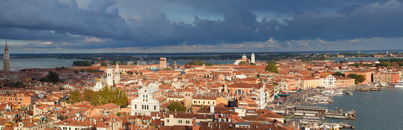 Panorama of Venice from St. Mark's bell tower, Venice, Italy